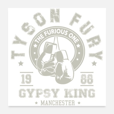 Detroit Tyson Fury Gypsy King Boxing Vintage Distressed - Poster