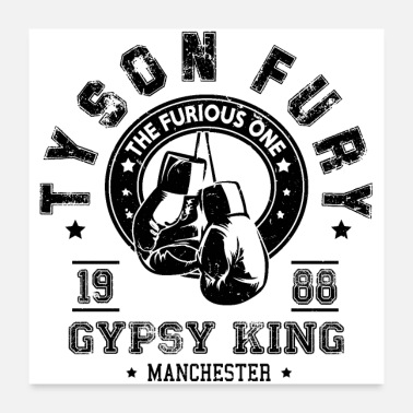 Gypsy King Tyson Fury Gypsy King Vintage Distressed - Poster