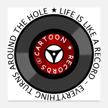 Funny Quotes Life is like a record - Poster