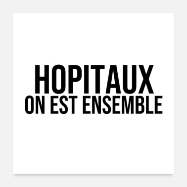 Ambulance hopitaux on est ensemble - Poster