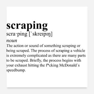 Schwarze Witwe scraping definition schwarz - Poster