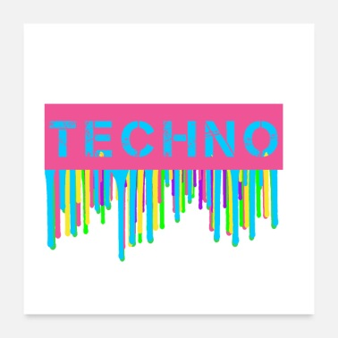 Uv Neon Techno - Poster