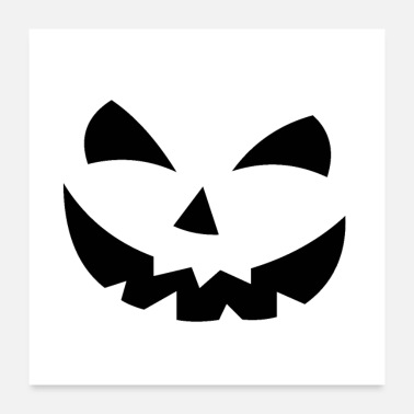 Ghost Scary Pumpkin Face - Poster