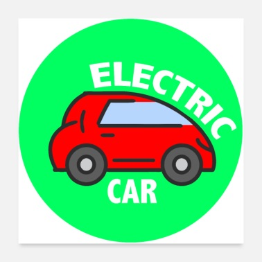 Electricity Electric Car - Poster