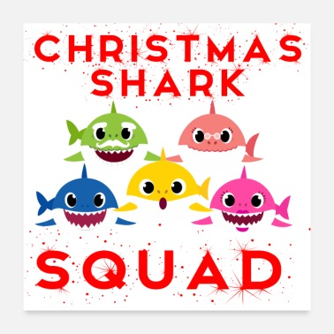 Match Christmas Shark Squad - Family Matching Gift Ideas - Poster