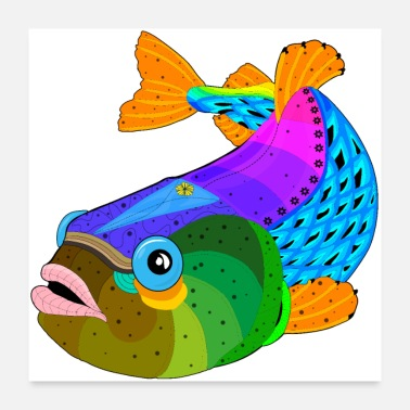 Fishing Fish / fish - Poster