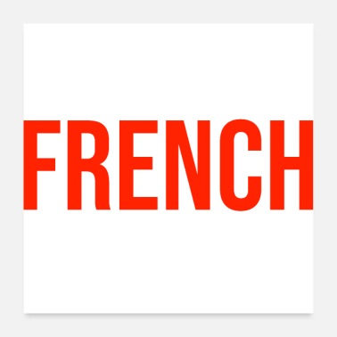 French French France French logo - Poster