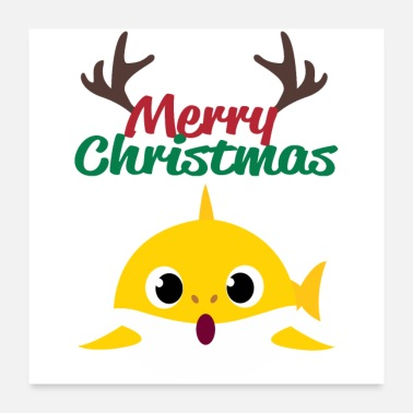 Baby Christmas Merry Christmas Baby Shark - Christmas Party Gifts - Poster