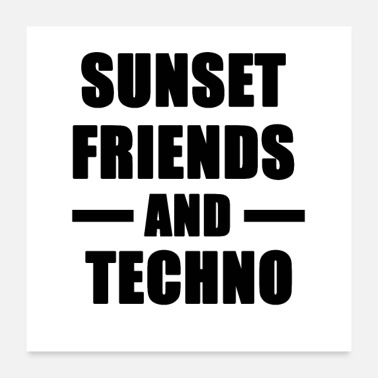 Detroit Sunset Friends und Techno - Poster