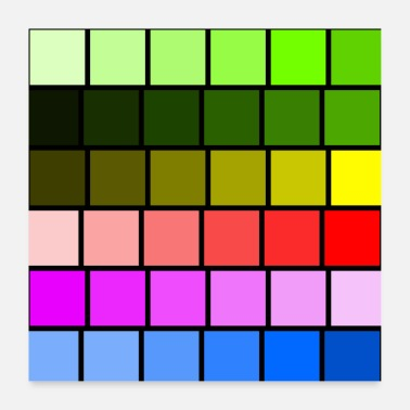 Squares colored squares - Poster