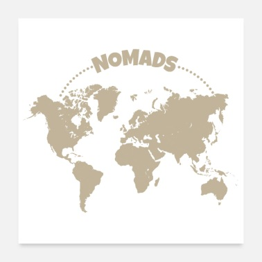 Worker Nomads World Tour Remote Worker grappig cadeau - Poster