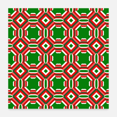 Christmassy Christmas pattern Christmassy decoration winter - Poster