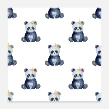 Baby Panda Baby Animals Neck Gaiter Baby Panda Bear Neck - Poster