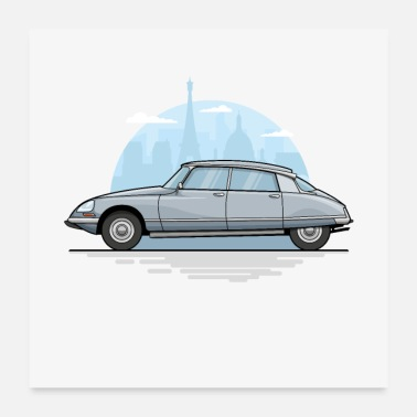 Car Dream car - Citroen DS Pallas 1969 - Poster