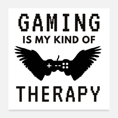 Piksel Spill Gamer Therapy Controller Pixel Gift - Poster