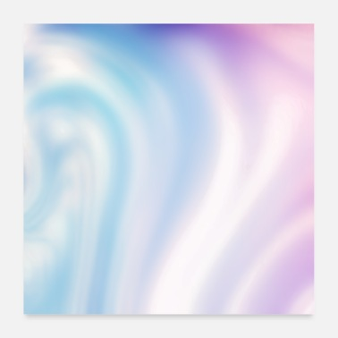 Trendy Holographic Blue Purple Iridescent Trendy - Poster