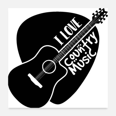 Nashville I love country music - Poster