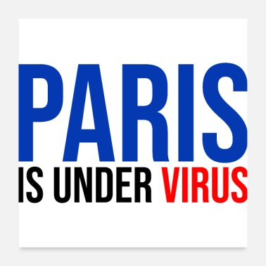 Ambulance paris is under virus coronavirus covid 19 - Poster
