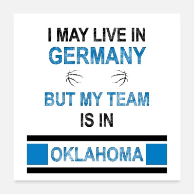 Fanshirt My team is in Oklahoma City | Thunder fan design - Poster