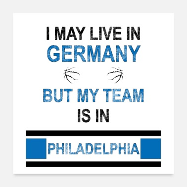 Fanshirt My team is in Philadelphia | 76ers fan design - Poster