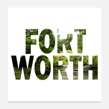 Texas Fort Worth Texas natur - Poster