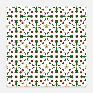 Christmassy Christmas pattern - Poster