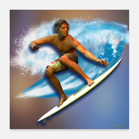 Surfer Posters - SURF E ONDE 2 - Posters hvid