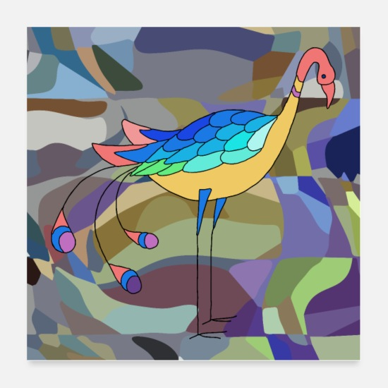 Symbol  Posters - Colorful bird - Posters white