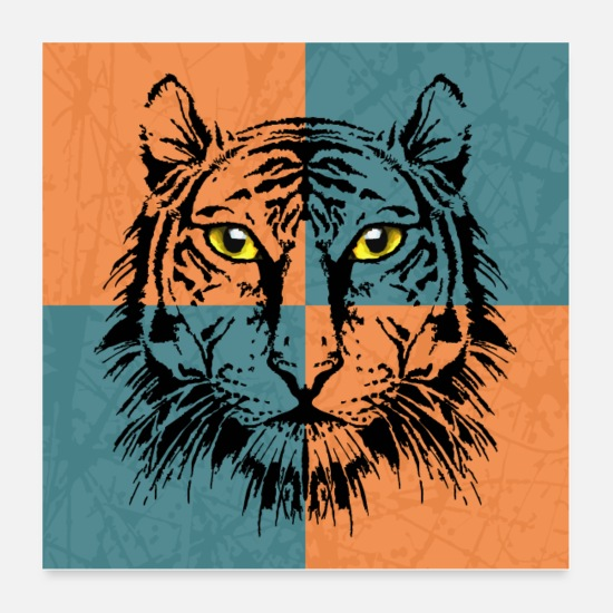 Love Posters - Tiger - Posters white