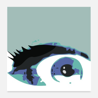 Eyes Eye painting blue eyes - Poster