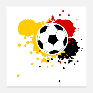 Match Football Germany splashes of paint - Poster 24 x 24 (60x60 cm)