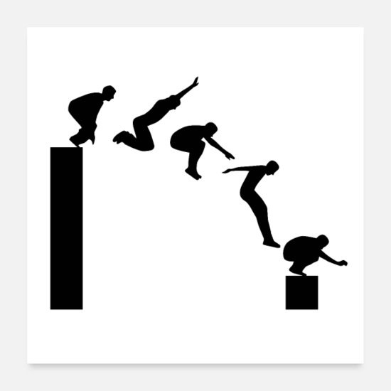 Sportif Posters - Parkour - Posters blanc