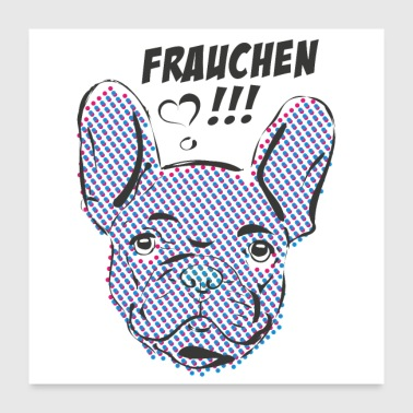 French bulldog - Poster 24 x 24 (60x60 cm)
