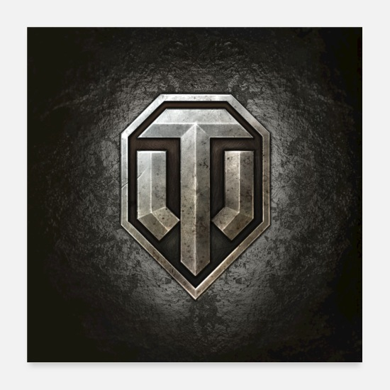 Gaming Posters - Logo World of Tanks WoT - Posters blanc