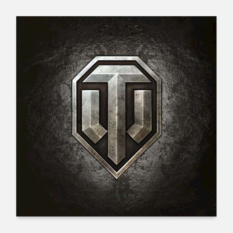 Gamer Posters - Logo World of Tanks WoT - Posters blanc