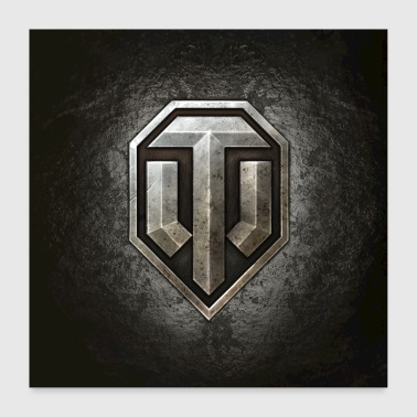 Logo World of Tanks WoT - Poster 60 x 60 cm