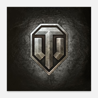 Geek World of Tanks WoT logo - Poster 24 x 24 (60x60 cm)