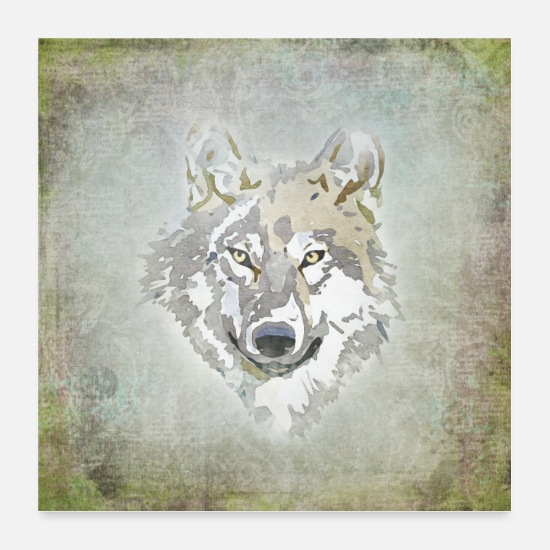 Loup Posters - loup - Posters blanc
