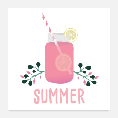 Heat Summer Cocktail Holiday Pink Lemonade Heat - Poster
