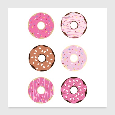 Candy Donut candy - Poster 24 x 24 (60x60 cm)