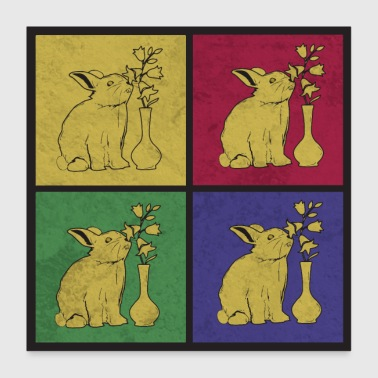 Bunnies pop art - Poster 24 x 24 (60x60 cm)