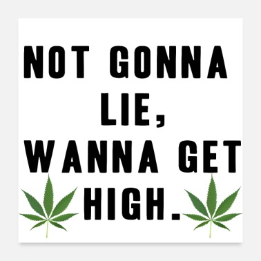 Stoner Do not lie but be high gift idea grass - Poster 24 x 24 (60x60 cm)