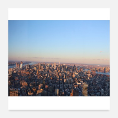Nyc New York at sunset skyline - Poster 24 x 24 (60x60 cm)