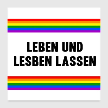 Communism Life and Lesbians Let Gay Pride Month LGBT - Poster 24 x 24 (60x60 cm)