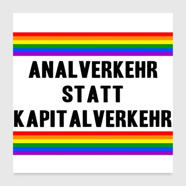Communism Anal intercourse instead of capital LGBT Gay Pride - Poster 24 x 24 (60x60 cm)