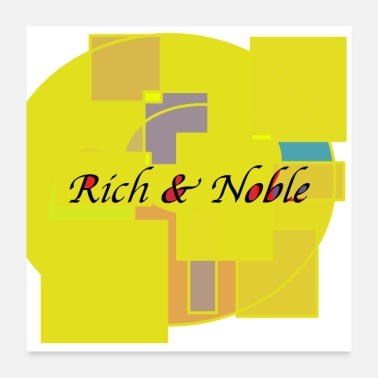 Riche Noble design riche et noble - Poster 60 x 60 cm