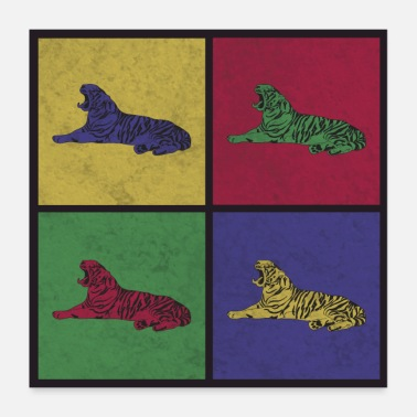 Gift Pop Art Tiger Gift - Poster 60x60 cm