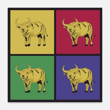 Buffalo Buffalo pop art buffalo bison dyreliv - Poster