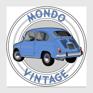Vehicle Vintage Mondo - Poster 24 x 24 (60x60 cm)