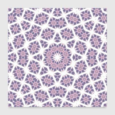 Mandala paars, wit - Poster 60x60 cm